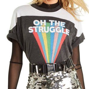 Wildfox Oh The Struggle Samuel Tee, Size L